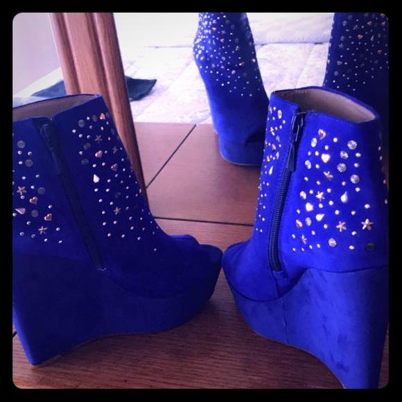 RACHEL Rachel Roy Shoes - Royal Ankle Booties
